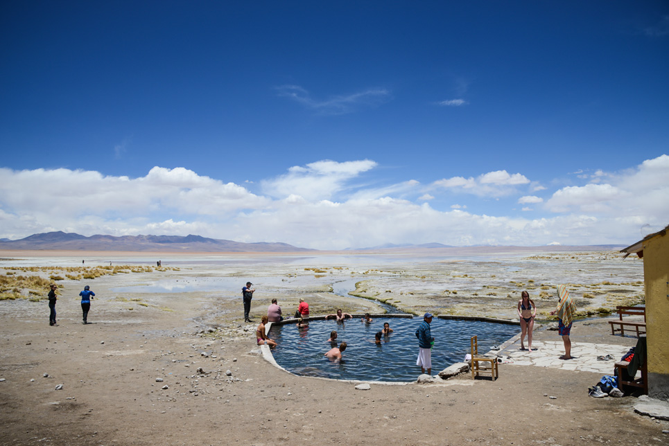 Thermal springs, pool, Laguna Salada